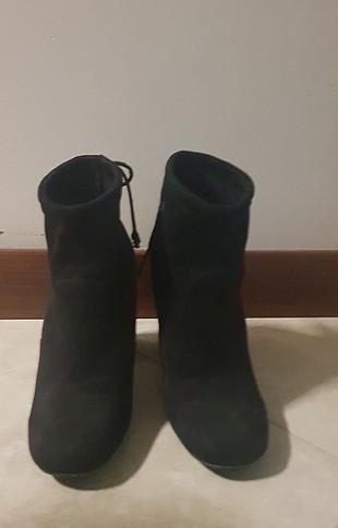 Shoe Tek suet siyah bot