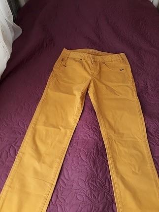 Orjinal marka hardal sarısı bayan pantalon