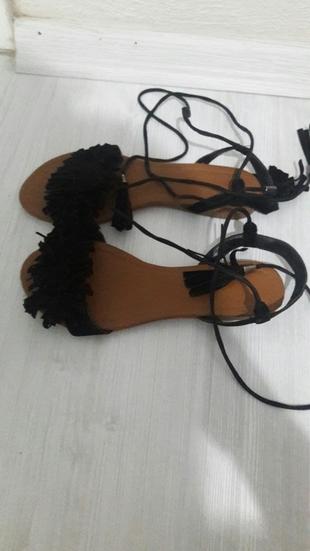 Bambi siyah sandalet bambi