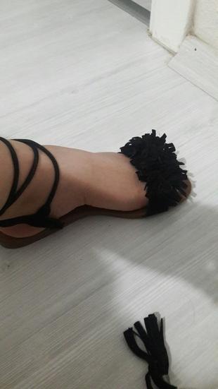 36 Beden siyah sandalet bambi