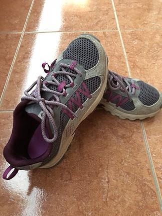 Gri mor columbia spor ayakkabı
