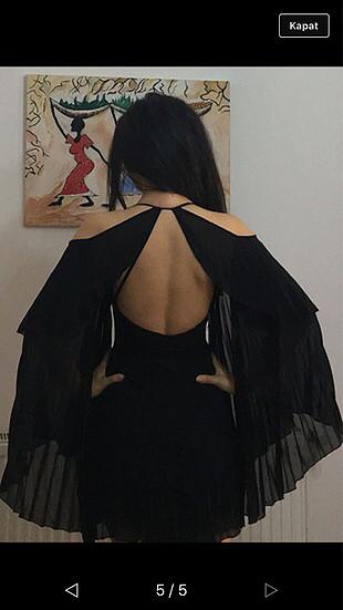 Kısa siyah elbisee