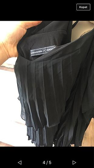 Raisa & Vanessa Kısa siyah elbisee
