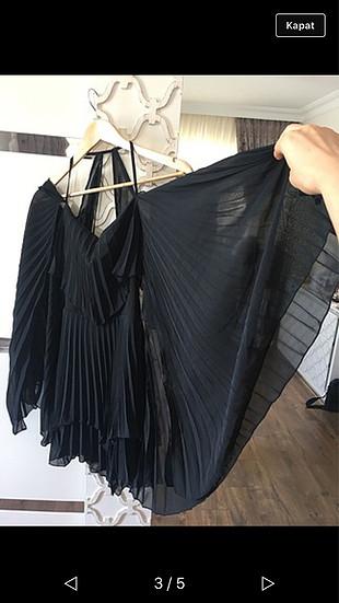38 Beden Kısa siyah elbisee