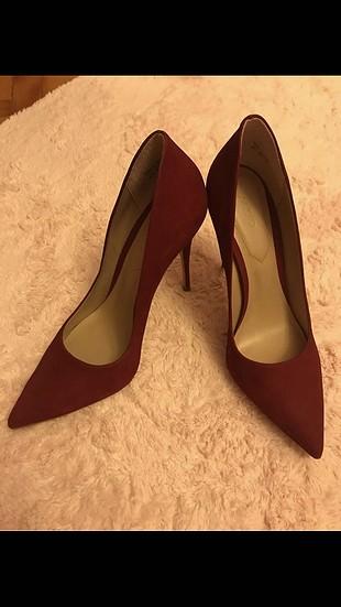 Aldo bordo topuklu ayakkabı