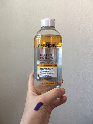 Garnier Çift Fazlı Micellar Makyaj Temizleme Suyu