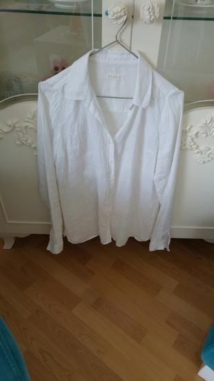 Keten Beyaz Gömlek