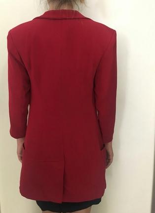 s Beden kırmızı Renk Lefon marka 36 beden ceket