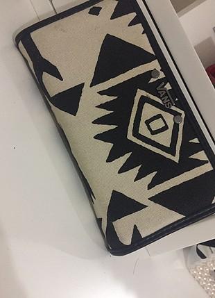 Vans siyah beyaz cüzdan