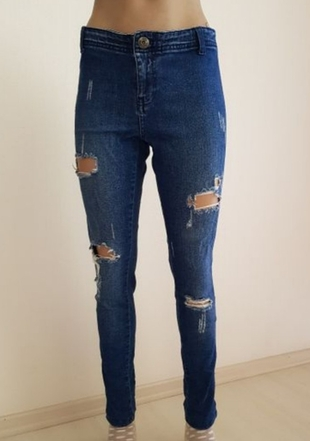 vero moda yırtık kot pantolon